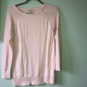LOFT blush long sleeve sweater